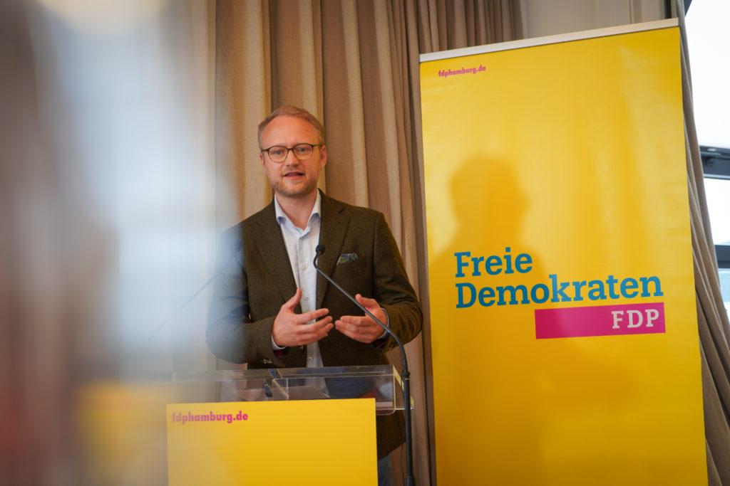 Michael Kruse beim Landesparteitag der FDP Hamburg