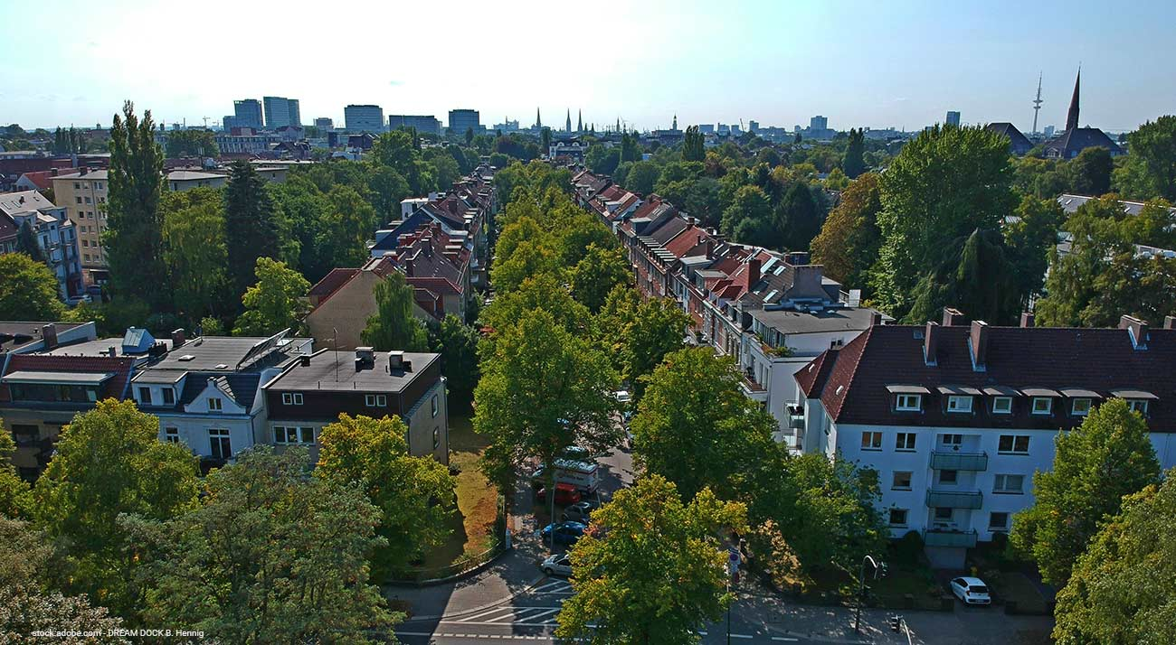 Wohngebiet in Hamburg
